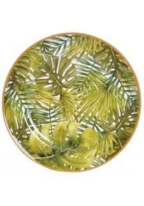 Bajoplato 33 cm polipropileno tropical hojas grandes