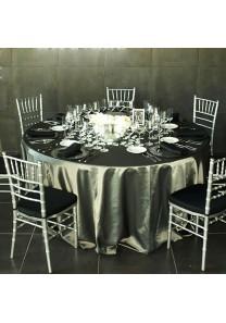 Mantelería Luxury tafetán plata - Mantel redondo 360 cm