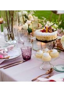 Mantelería rosa pastel
