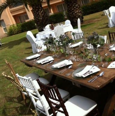 Alquiler de mobiliario para bodas y eventos